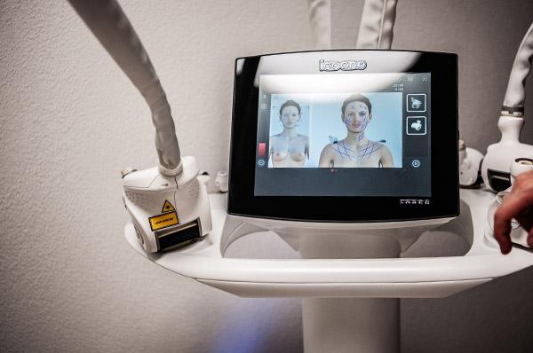 Hochmoderne Medizintechnik wie z.B. der ICOONE Laser ist aus dem Repertoire eines gut aufgestellten Hautarztes nicht mehr wegzudenken.